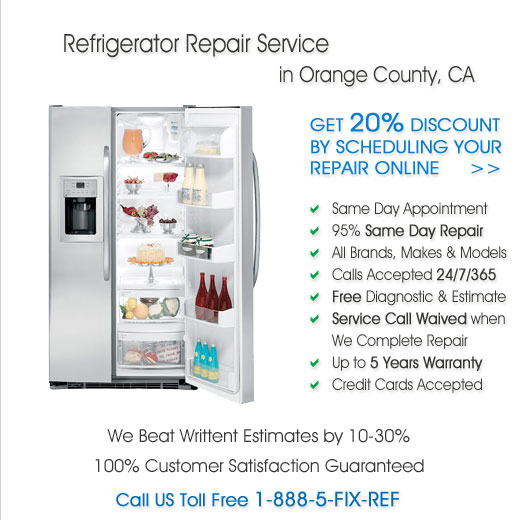 Repair Refrigerator in Orange County, California