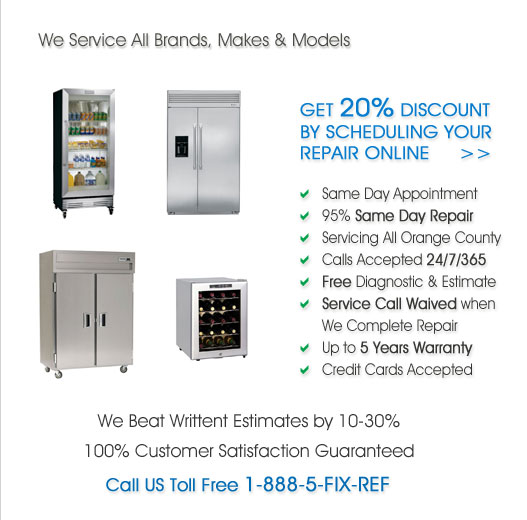 Refrigerator Service Repair in Orange County, California